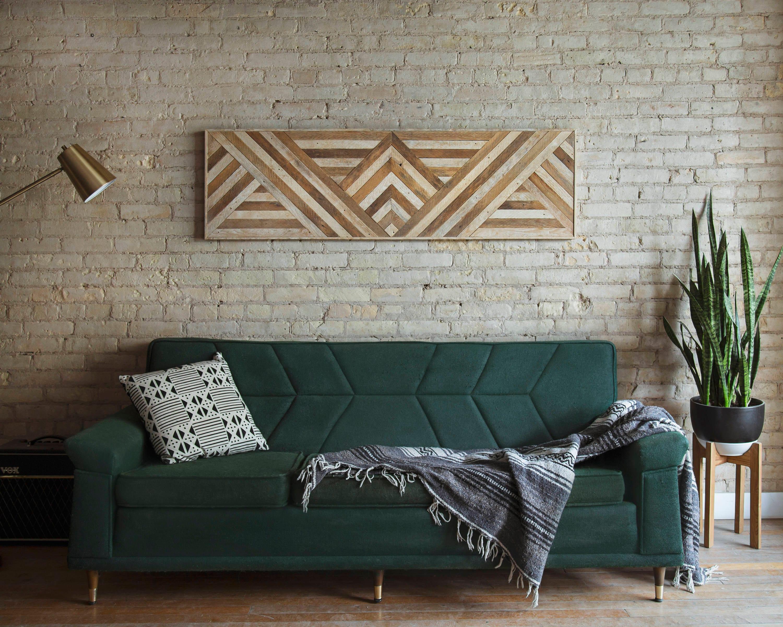 Reclaimed Wood Wall Art, Queen Headboard, Wood Wall Decor ...