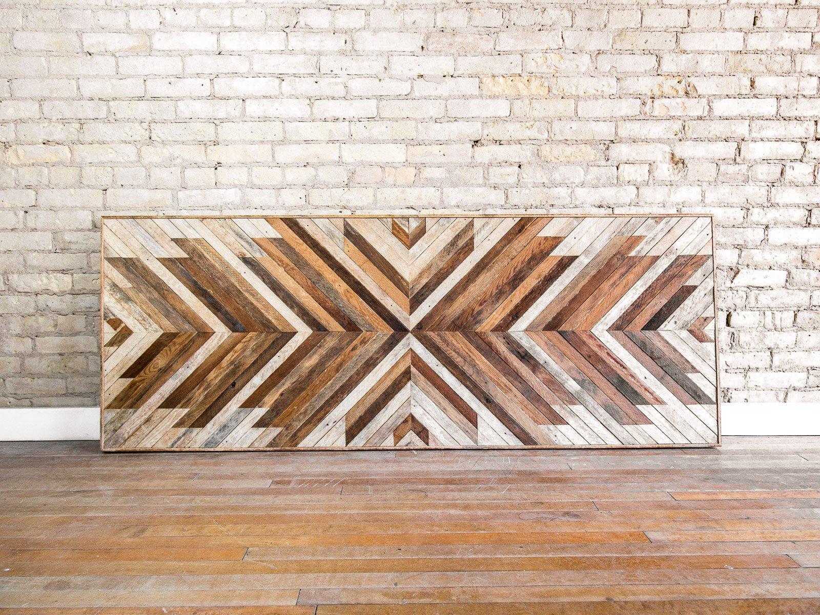 Reclaimed Wood Wall Art Wall Decor Wood Art King Wood Headboard Wall Art Minimal Art Wood Headboard Rustic Modern 80x30