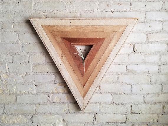 Reclaimed Wood Wall Art   Wood Decor   Reclaimed Wood   Wood Art   Rustic Geometric   Wood Decor   Handmade    Triangle Gradient   Modern