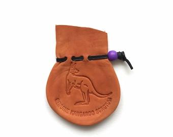 Kangaroo Scrotum Bag / Oddities / Birthday Gift / Small with Stamp #320