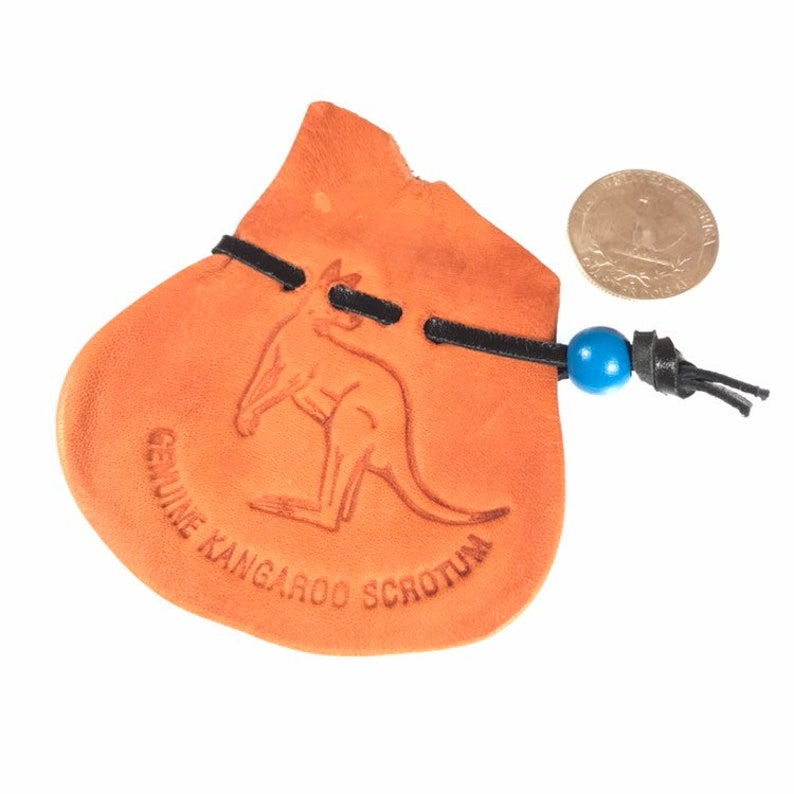 Kangaroo Scrotum Bag / Coin Purse / Oddities / Dice Bag / image 0