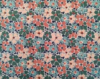 Blue  738A 100/% cotton fabric Nettlefold LIBERTY  Winterbourne
