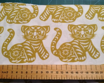 Michael Miller 'Growl' Tigers in 2 colourways available, Patchwork Quilting Fabric 100% Cotton