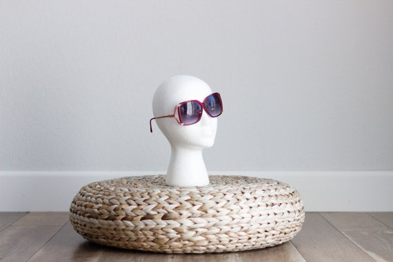 1970s Oversized Sunglasses . Red and Gold Sunglas… - image 2