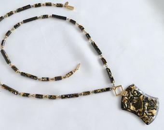 Lanvin vintage way Golden shell pendant necklace