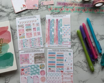 Celebration // weekly sticker kit for use with the Mini Happy Planner // Celebration Kit // (130++ stickers)