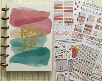 Fallin' For Autumn 2.0 weekly sticker kit for use with the Mini Happy Planner // (130++ stickers)