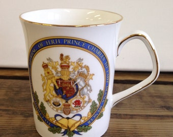Vintage Ringtons Pottery Mug Charles & Diana Royal Wedding 1981 - Made In England And In Very Good Condition.