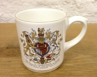 Vintage Poole Pottery Mug Charles & Diana Royal Wedding 1981 - Made In England And In Very Good Condition.