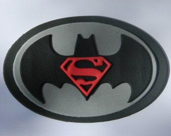 1 edible large BATMAN vs SUPERMAN LOGO 16cm super hero gotham city cake cupcake wedding topper decoration party birthday engagement