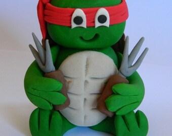 1 edible 3D TEENAGE MUTANT Ninja Turtles tmnt cake decoration topper gumpaste sugarcraft christening birthday wedding addiversary engagement