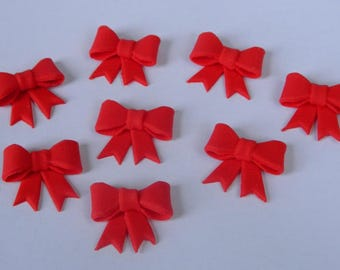 12 edible small RIBBON BOW MINNIE mouse cake cupcake toppers decorations party wedding anniversary birthday bows presents christening
