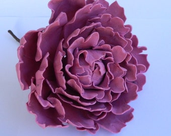 1 edible LARGE 3D Peony Rose 12cm cake cupcake toppers decorations party wedding anniversary birthday engagement sugar flowers