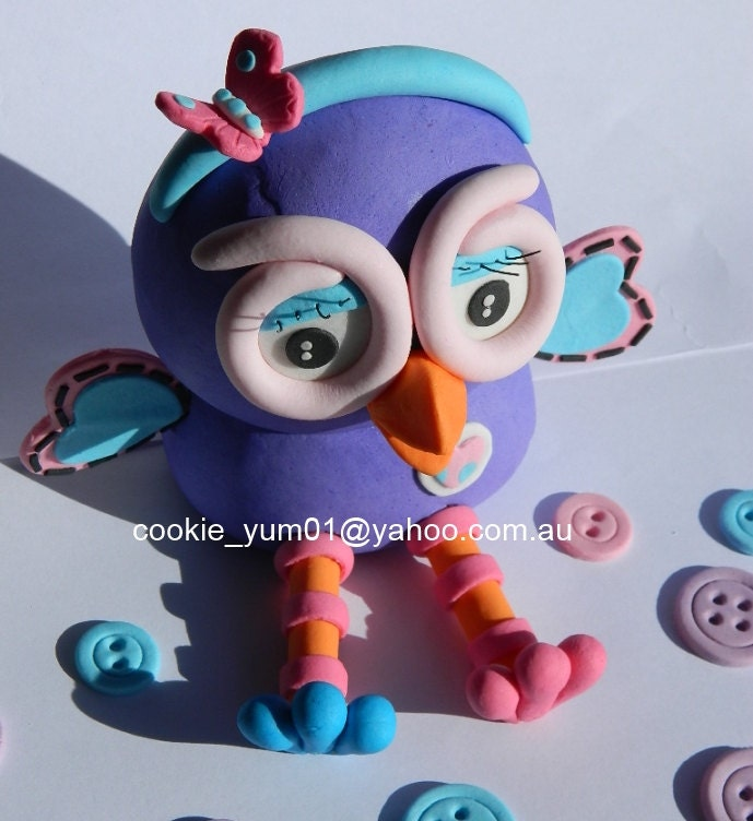 1 Edible 3d Hootabelle From Giggle Hoot Owl Cake Decoration Topper