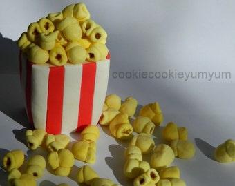 1 large 3d edible MOVIE POPCORN HOLLYWOOD film buff awards ceremony star cinema cake decoration topper wedding birthday