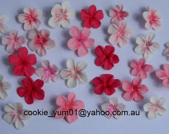 25 edible CHERRY BLOSSOMS FLOWERS sugar cake cupcake toppers decorations party wedding anniversary birthday beautiful christening