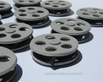 12 edible MOVIE FILM REELS cupcake cake topper decorations camera anniversary birthday 16th 18th 21st