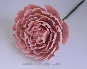 1 edible LARGE 3D PEONY Rose 12cm cake cupcake toppers decorations party wedding anniversary birthday engagement sugar flowers blossoms