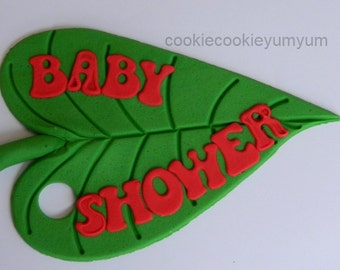 1 edible PERSONALISED NAME LEAF plaque hungry caterpillar cake topper decoration age icing decorations wedding anniversary birthday