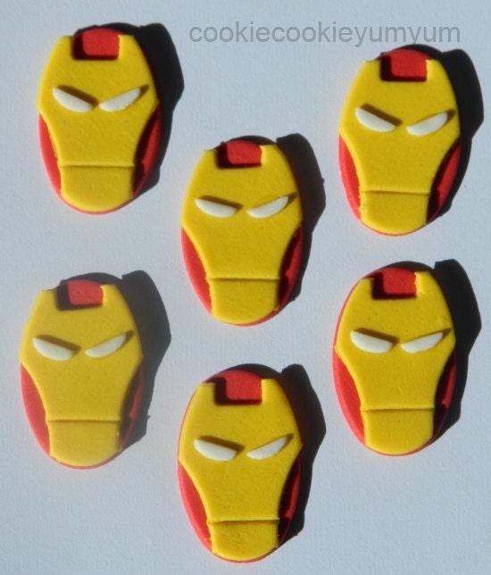 12 edible IRONMAN AVENGER marvel dc superHERO comic cake cupcake ...