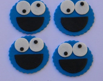 12 edible SESAME STREET COOKIE monster cupcake cake topper decorations baby shower wedding anniversary birthday engagement