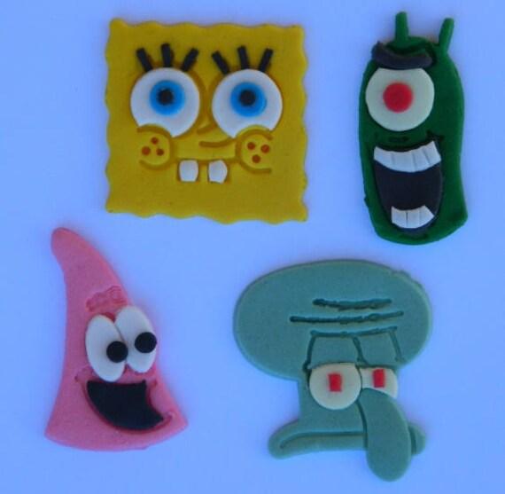 12 Essbare Spongebob Schwammkopf Patrick Thaddaus Plankton Bikini Unten Zuckerguss Kuchen Dekorationen Kuchen Topper Dekoration Partei Geburtstag