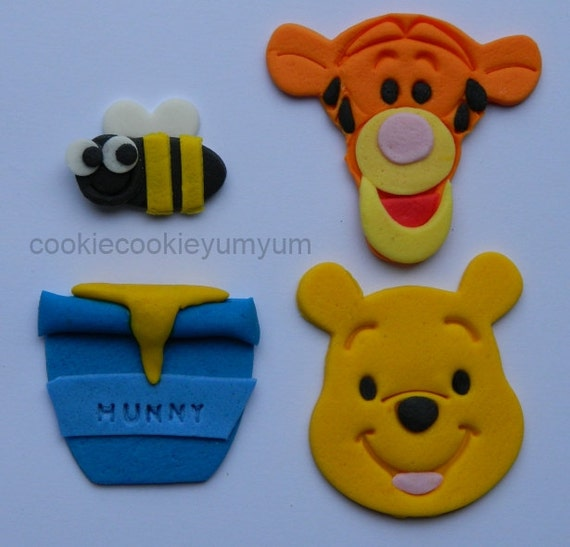 12 Edible Assorted Winnie Pooh Theme Baby Shower Christening Etsy