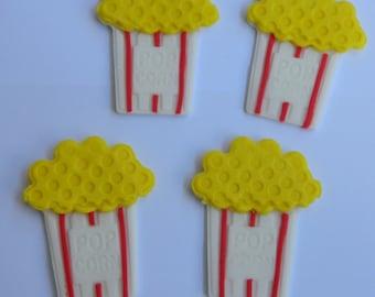 12 edible MOVIE POPCORN CARTONS cinema cupcake cookie cake topper decorations camera anniversary birthday 16th 18th 21st wedding engagement