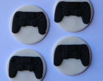12 edible PLAYSTATION PS4 CONTROLLER cupcake topper game cake decoration topper gumpaste sugarcraft birthday wedding anniversary engagement