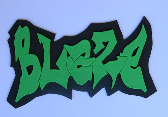 1 Edible Large Personalised Name Graffiti Hip Hop Gangster Etsy