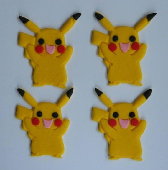 12 X Pokemon Pikachu Charakter Gehen Kuchen Zuckerguss Topper Etsy