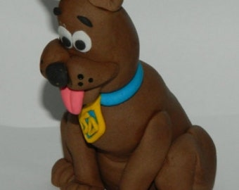 1 edible 3D SCOOBY DOO Character cake decoration topper gumpaste sugarcraft birthday wedding anniversary engagement baby shower christening
