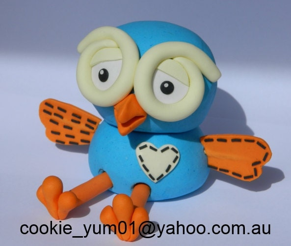 1 Edible 3d Hoot From Giggle Hoot Owl Cake Decoration Topper