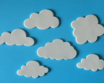 15 edible CLOUDS bon voyage HOLIDAY first birthday wedding topper decoration wedding anniversary engagement