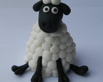 1 edible SHEEP 3d LARGE cake decoration TOPPER farm barnyard animal gumpaste sugarcraft lamb