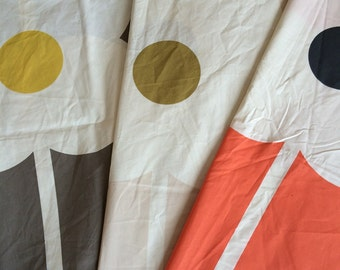 Orla Kiely fabric - giant abacus flower print - brown | beige *** SHIPPING INCLUDED ***