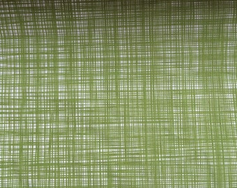 Orla Kiely printed fabric - scribble green  *** SHIPPING INCLUDED ***