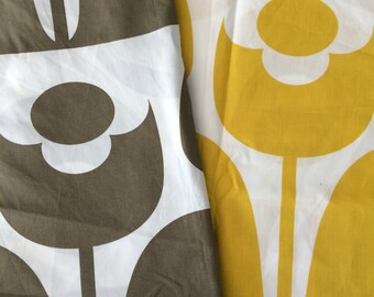 Orla Kiely printed fabric - wallflower - brown | yellow *** SHIPPING INCLUDED ***