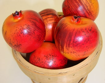 Artificial Fruit. Faux Mini Pomegranate Fruit Kitchen Realistic Food Fake Display Home Decor. Bag of 12 Pieces