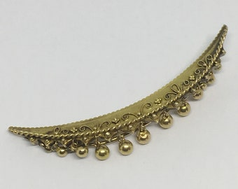 Antique moon brooch, Vintage Jewellery, 1800's Jewellery, 9ct gold brooch, victorian Jewellery, antique jewelley, British jewellery