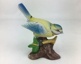 Chalkware bird, bird figurine, vintage bird, mid century porcelain, Home and Living, Home Décor