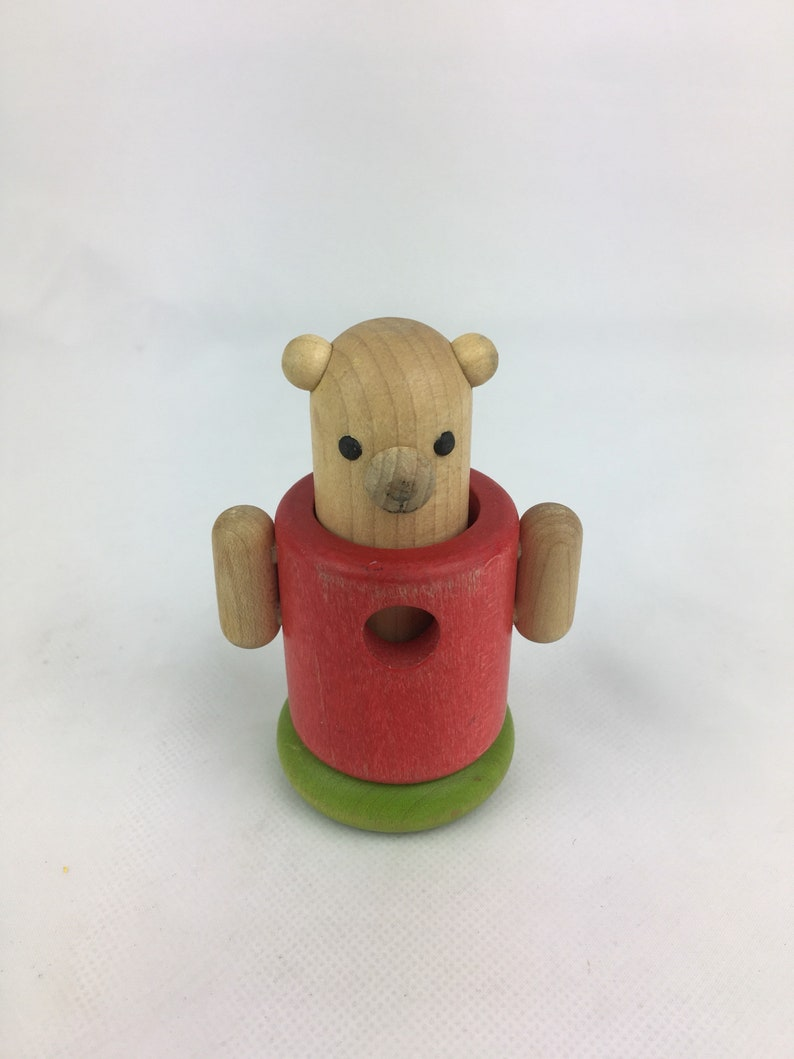 Haba Bear Wooden Bear Handmade Wood Toy Toy Animals Vintage Toy Wood Toy Collectable Toy Nursery Decor German Toy Baby Toddler