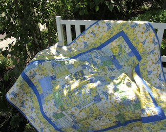 f01d59b9e2 Lovely Yellow and Blue quilt featuring April Cornell Sunshine fabric