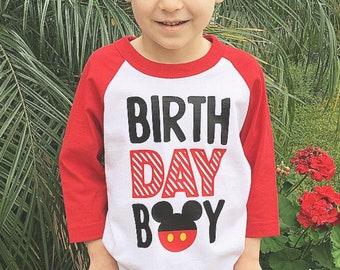 Birthday Boy Girl Mickey Minnir Baseball Shirt Disneyland Mouse Theme Party Event 1st First Celebration Cake Smash Disney