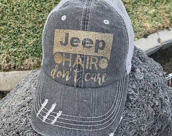 4e0be8070a7 Jeep Hair Don t Care Hat women baseball jeeps dirt off road desert mud