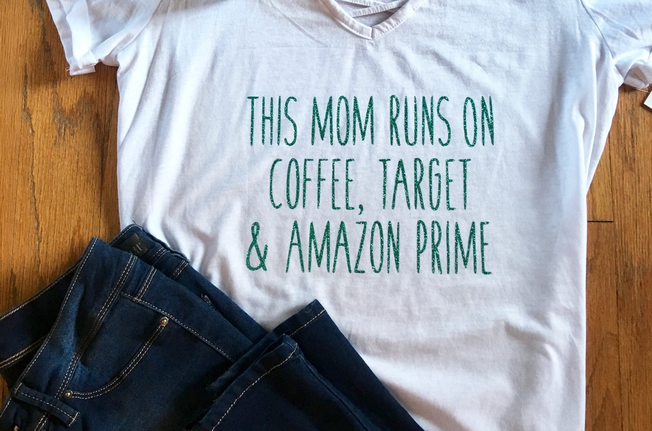 This Mom Runs On Coffee Target Amazon Prime Slouchy Comfy Etsy