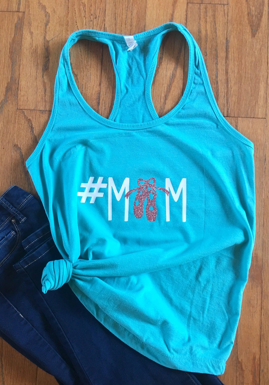 f724d78dd798 Dance mom comfy tank shirt pointe ballet tap gymnastics womens mama ...