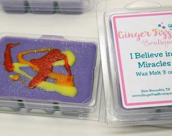 I Believe in Miracles Clamshell, wax melts, wax tarts, clamshell, wax for warmers, wax warmer