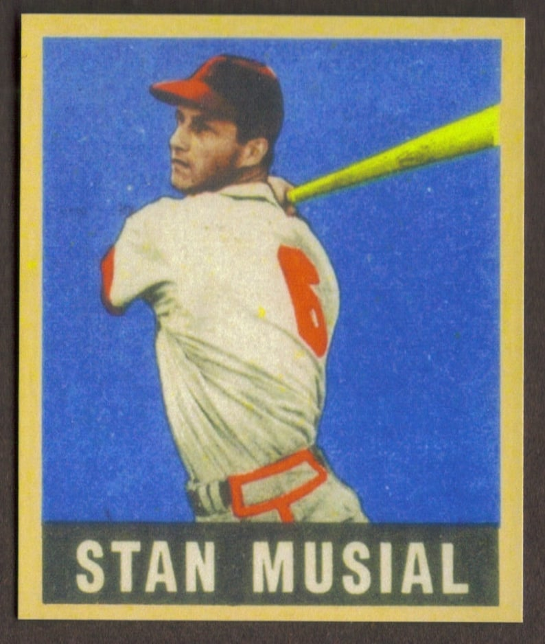 Stan Musial Rookie Rp 4 Cardinals 1948 L Free Shipping