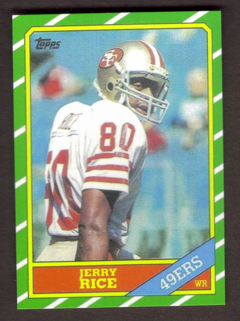 Jerry Rice Rookie Rp 161 49ers 1986 T Free Shipping